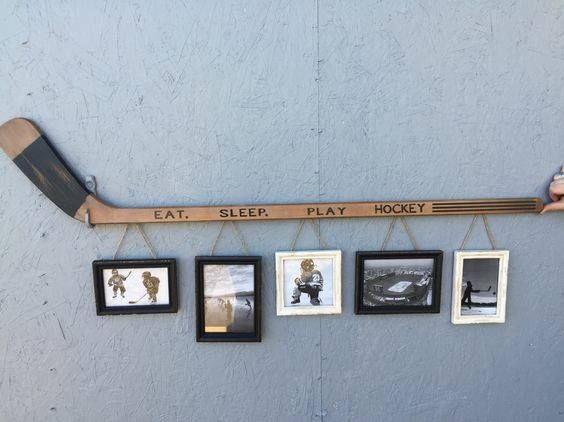 Hockey Stick PIcture Holder
